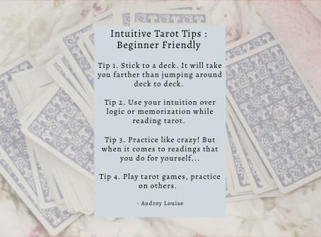 Intuitive Tarot Tips : Beginner Friendly