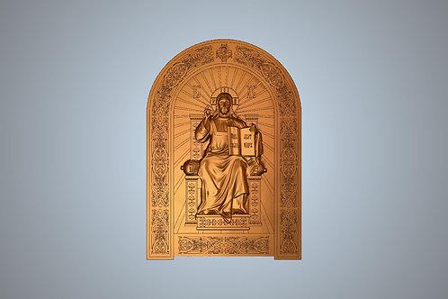 253 Икона Спас на престоле