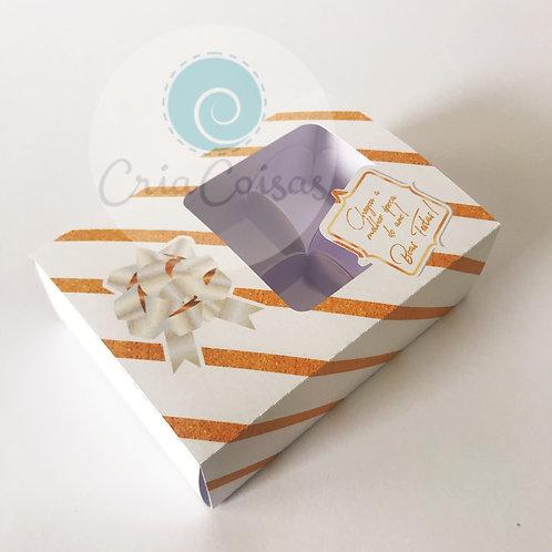 Caixa com Borda para 6 doces (12x9x4cm)