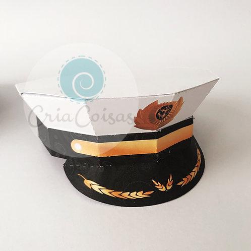 Quepe Marinha (centro de mesa ou topo de bolo)