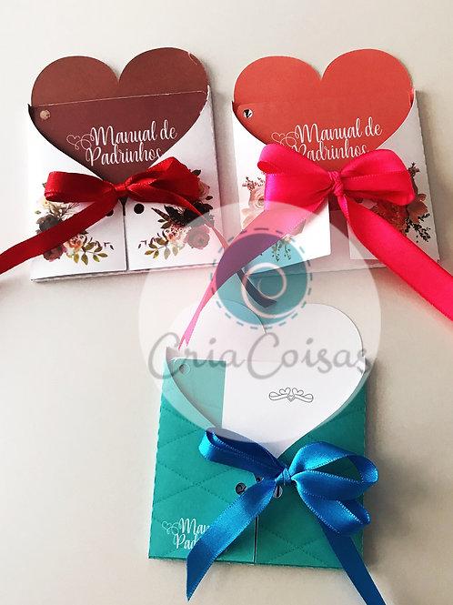 Kit 3 Manuais De Padrinhos Coral, Tiffany, Marsala