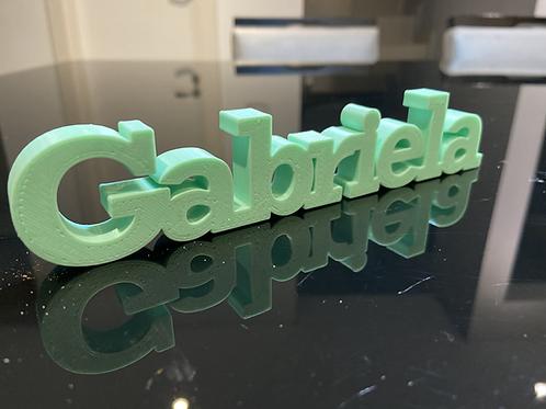 Nome Gabriela para Impressão 3D
