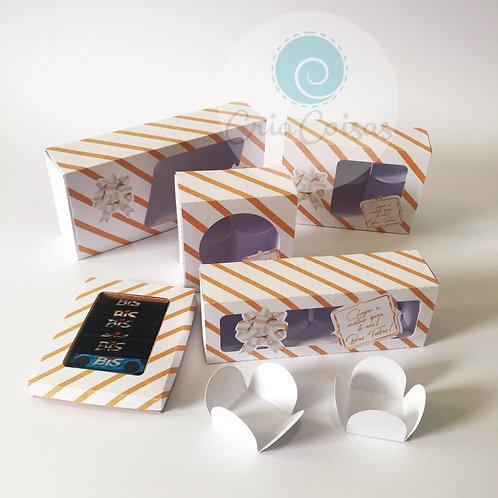 Kit de 5 Caixas para Doces Natal - Para folha A4
