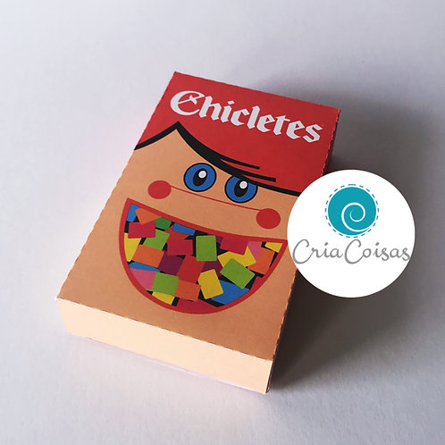Caixa Chicletes - Anos 80
