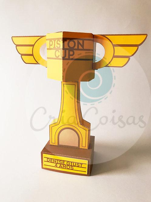 Trofeu Copa Pistão (28cm) - Festa Carros