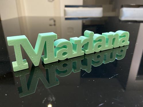 Nome Mariana para Impressão 3D