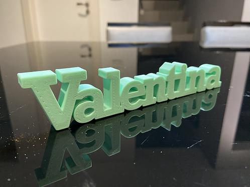 Nome Valentina para Impressão 3D