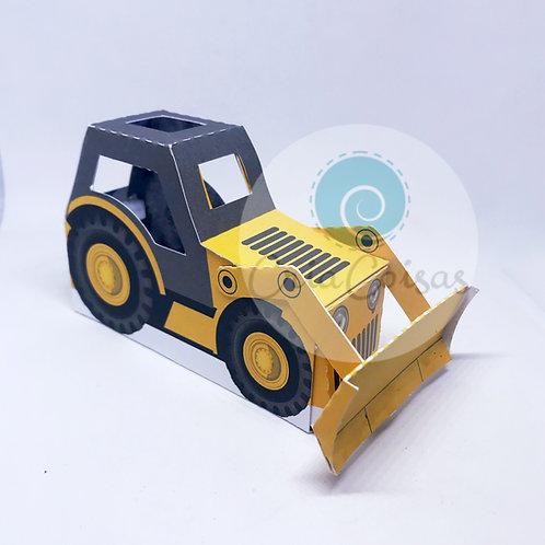 Caixa Trator (Tema Construção)