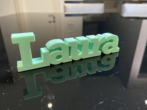 Nome Laura para Impressão 3D