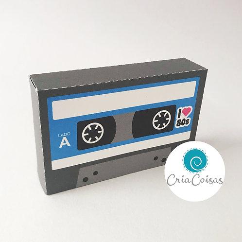 Caixa Fita K7 Azul - Anos 80