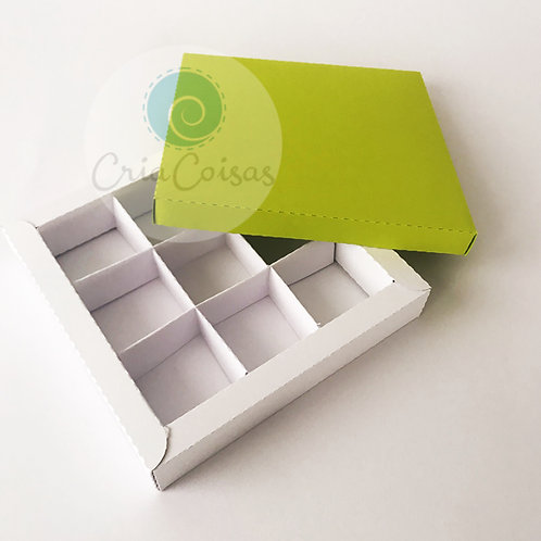 Caixa Versátil com tampa e 4 e 9 divisórias (sem cola)