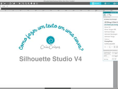 Como fazer um texto curvo no Silhouette Studio?