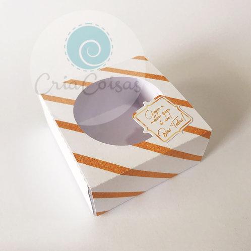 Caixa com Borda para 4 doces (9x9x4cm)