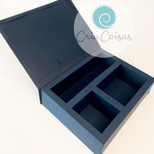 Caixa para Mini Espumante, Maccaron e Gravata