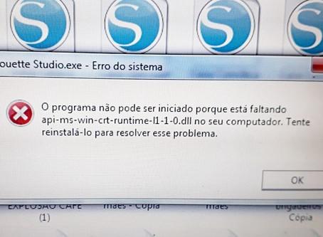 Não consigo usar o Studio, Windows está dizendo que está faltando api-ms-win-crt-runtime-l1-1-0.dll!