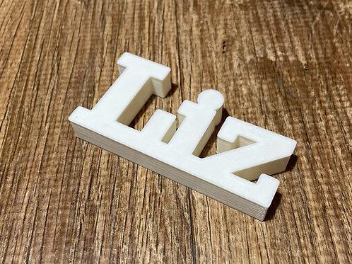 Nome Liz para Impressão 3D
