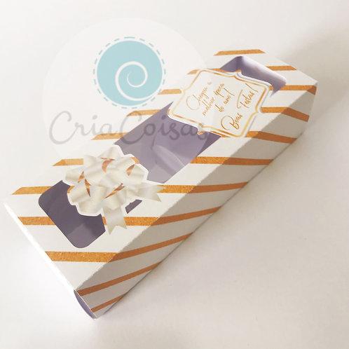Caixa com Borda para 4 doces retangular (16x5,5x4cm)