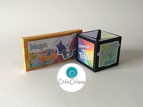 Cartão Cubo Pop-Up 3D