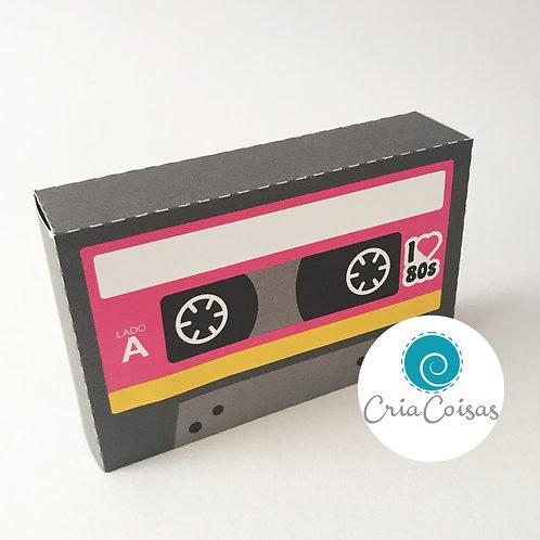 Caixa Fita K7 Rosa - Anos 80