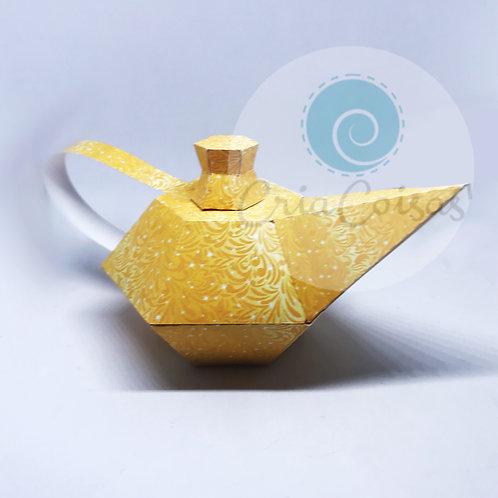 Lampada do Aladdin - topo de bolo