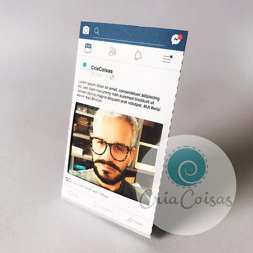 Porta Retrato Rede Social Azul