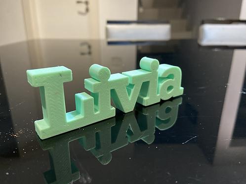 Nome Livia para Impressão 3D