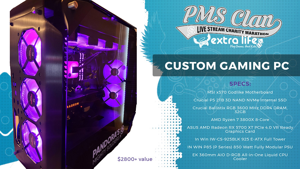 PMS custom gaming rig brought to you by LoveLaughLeslie