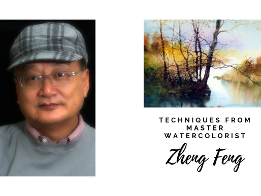 Learn from Master Watercolorist, Zheng Feng