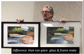 Difference between glare and non-glare glass on art framing
