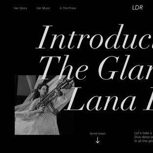 Lana Del Rey Landing pages