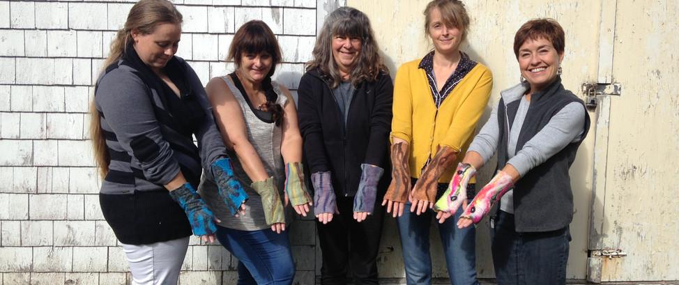 Felted Fingerless Gloves
