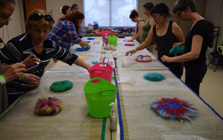 Felted Flower Brooch Workshop