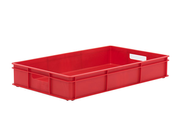 TK211BH STACKING CONTAINER WITH SOLID SIDES, BASE AND HANDLE HOLES