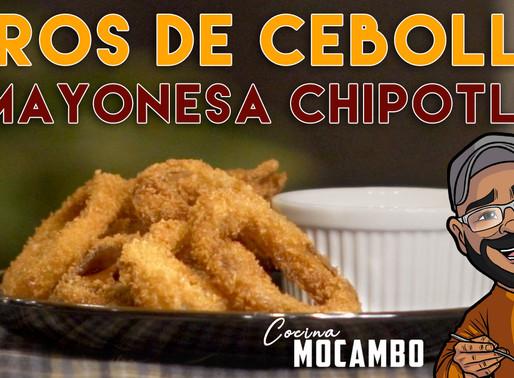 AROS DE CEBOLLA CON MAYONESA DE CHIPOTLE