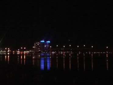 Night time lights on Halifax River