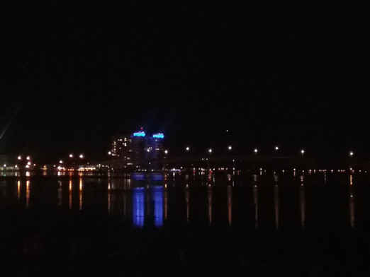 Night time lights on Halifax River
