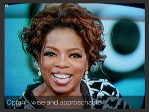 Oprah, a wise and approachable Sage - Creative Commons image by nayrb7