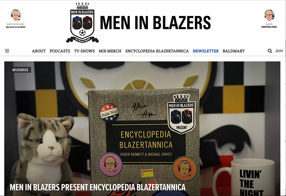 Men in Blazers - example of Jester archetype with Sage details