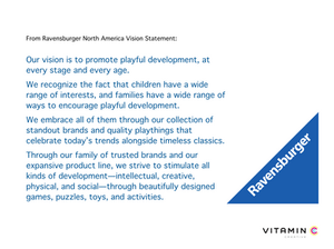 Clip from Ravensburger North America Vision Statement