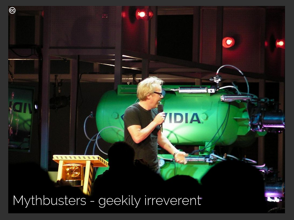 MythBusters, a geekily irreverent Sage - Creative Commons image by reedkavner
