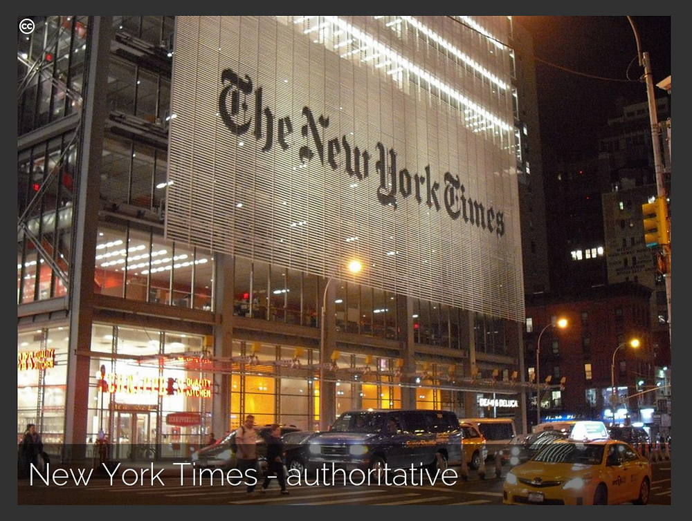 New York Times, example of Sage Archetype - Creative Commons image by Elias Rovielo