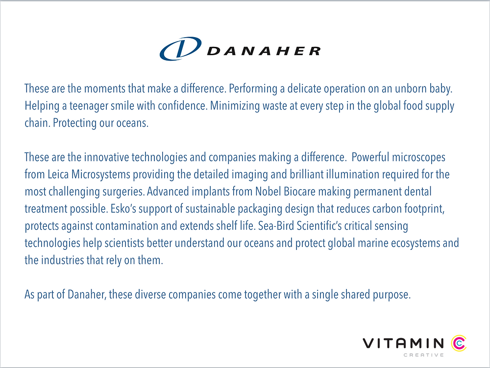 Danaher content clip: These are the moments that make a difference....
