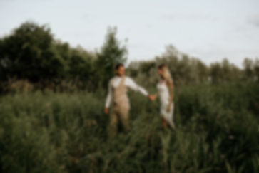 Couple wedding elopement Muskoka Ontario Canada