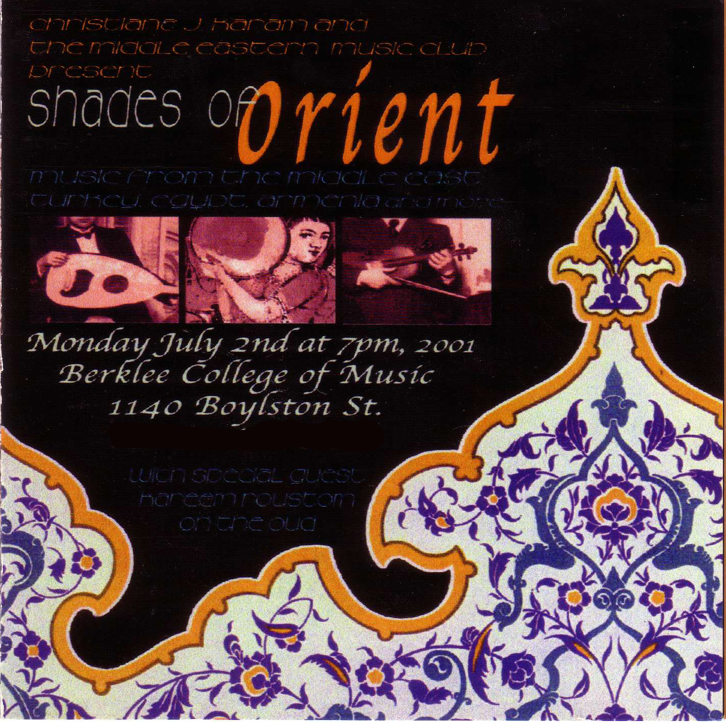 Shades of Orient, Summer 2001