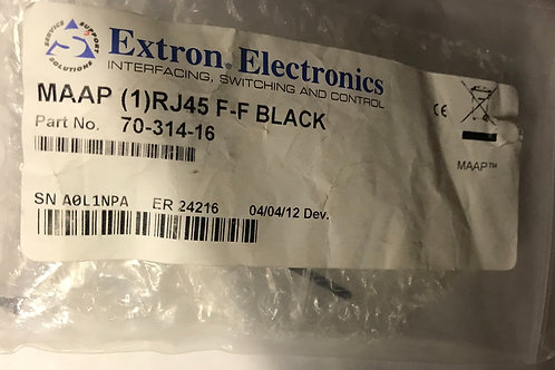 Extron Electronics MAAP (1) RJ45 F-F, Black  PN: 70-314-16