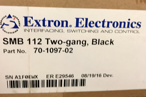 Extron SMB 112 Two-gang, Black, PN: 70-1097-02
