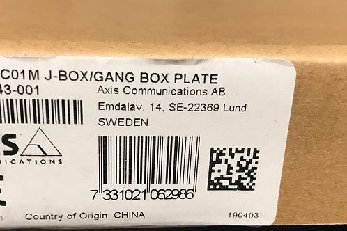 Axis T94C01M J-Box/Gang Box Plate  01243-001