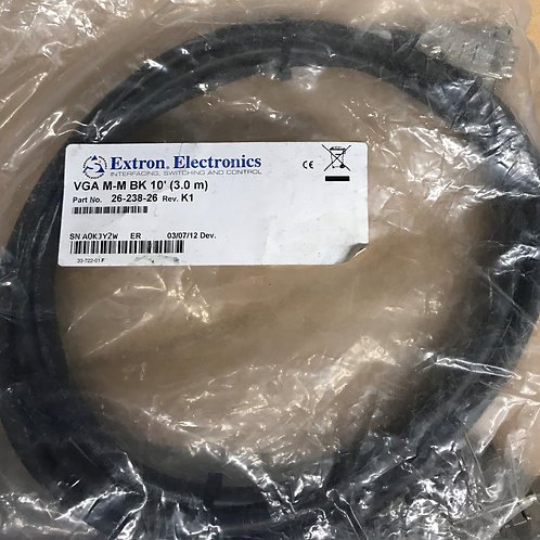 Extron Male to Male VGA Cables - Backshell Connectors 10ft. – P/N: 26-238-26