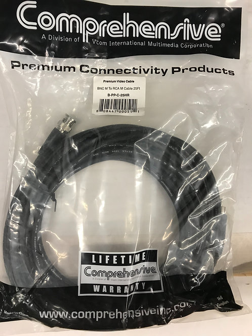 Comprehensive BNC M to RCA M Cable 25ft, B-PP-C-25HR