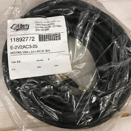 Liberty Wire E-2V2AC3-25 Molded VGA Cable